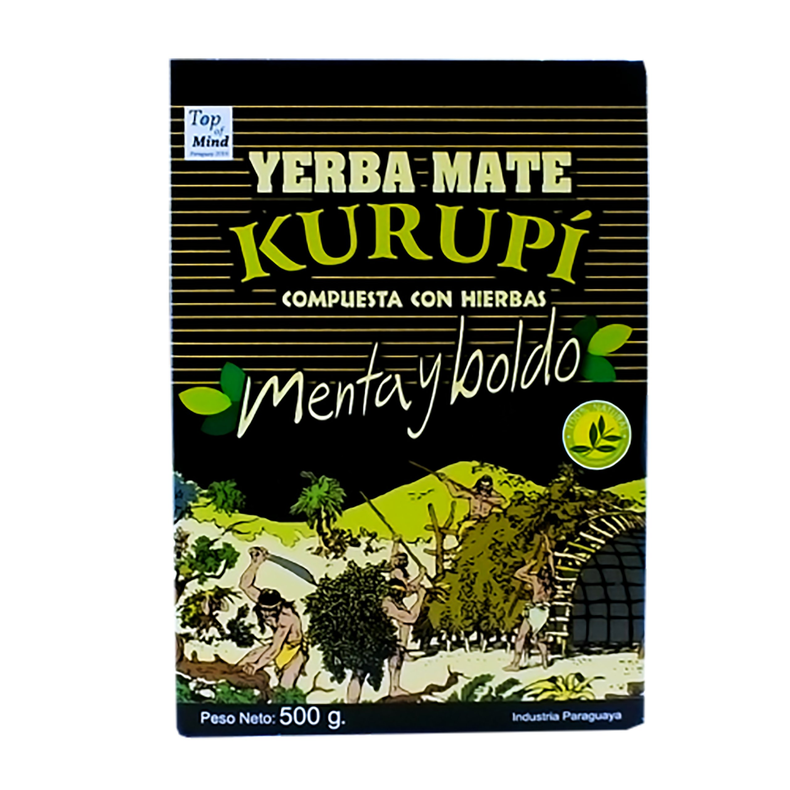 Yerba Mate Kurupi Compuesta Menta Boldo 0,5kg 500g