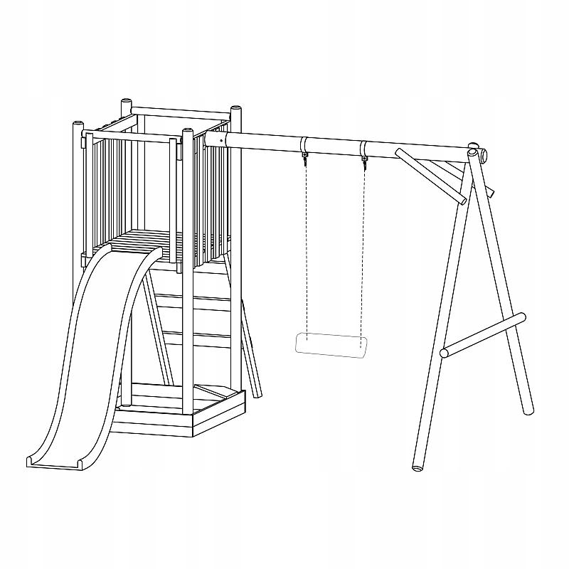 Ihrisko FRANEK Swing Slide Tower typ drevené