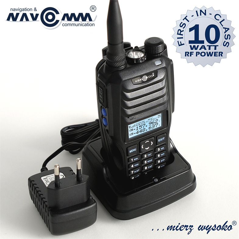 RADIOSTACJA NC-900 DUOBANDER NAVCOMM, 10W, 2600mAh