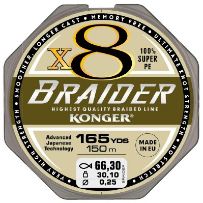 Купить KONGER ПЛЕТЕНКА BRAIDER X8 ОЛИВКОВОЕ ГРИН 01210M на Eurozakup - цены и фото - доставка из Польши и стран Европы в Украину.