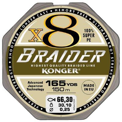 Купить KONGER ПЛЕТЕНКА BRAIDER X8 ОЛИВКОВОЕ ГРИН 01410M на Eurozakup - цены и фото - доставка из Польши и стран Европы в Украину.