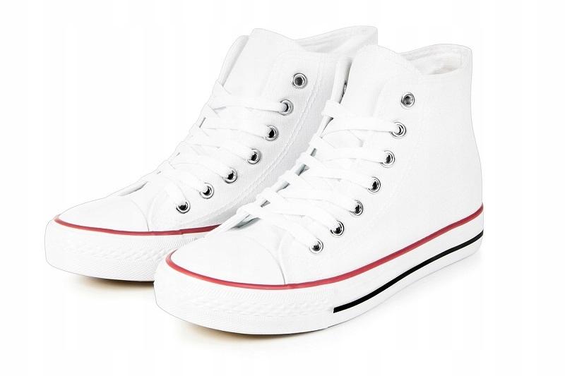 Buty sportowe TrAmPki Białe Tenisówki WySoKiE f76