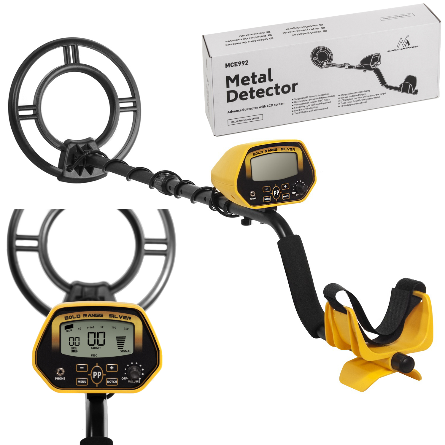 Item The METAL DETECTOR McLean MCE-992 PINPOINT!