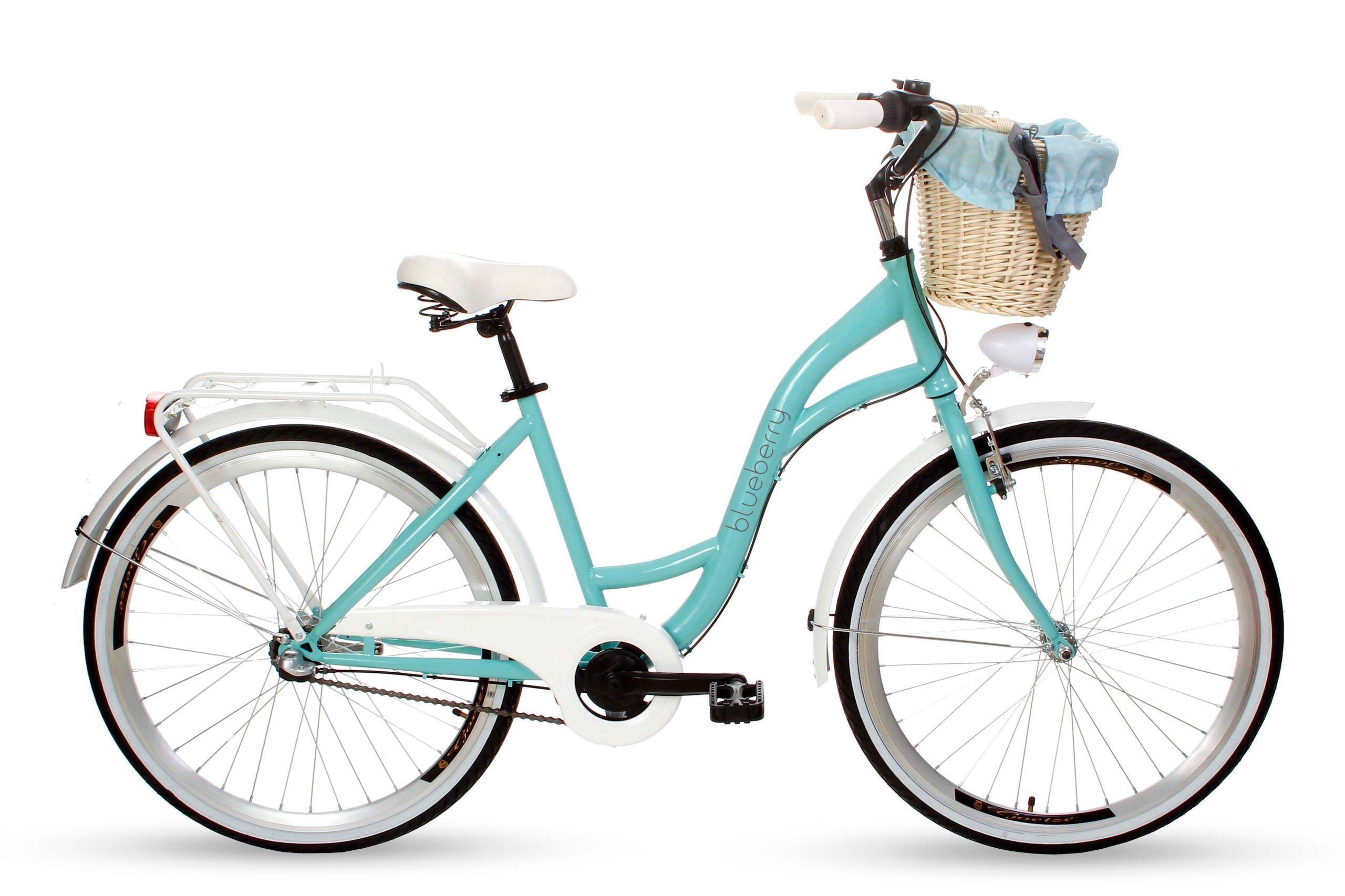 Dámsky mestský bicykel Goetze BLUEBERRY 26 3b košík!  Veľkosť rámu 17 palcov