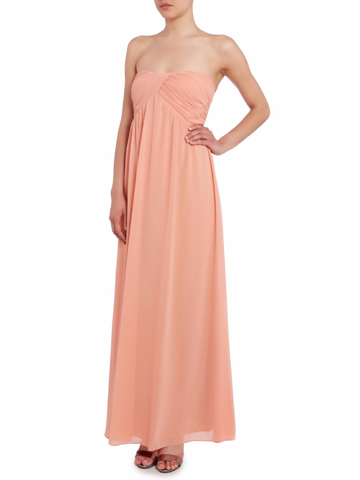 TRUE DECADENCE koralowa maxi sukienka 42 XL