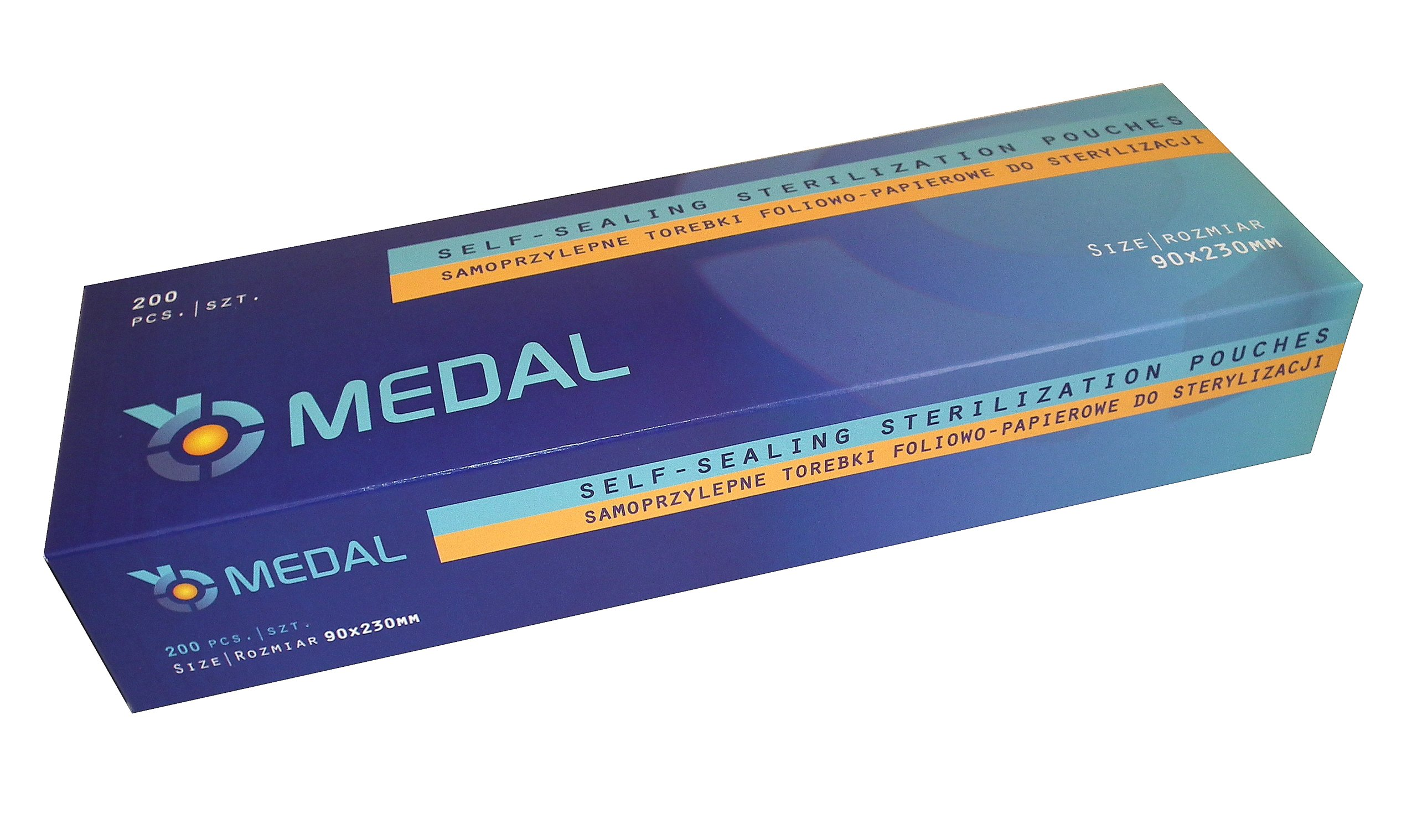 Item PACKAGES FOR STERILIZATION 90mmx 230mm MEDAL 200 PCs