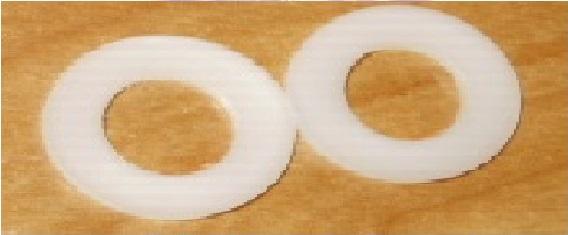 8,4mm kruhové nylonové podložky DIN 125 (10ks)