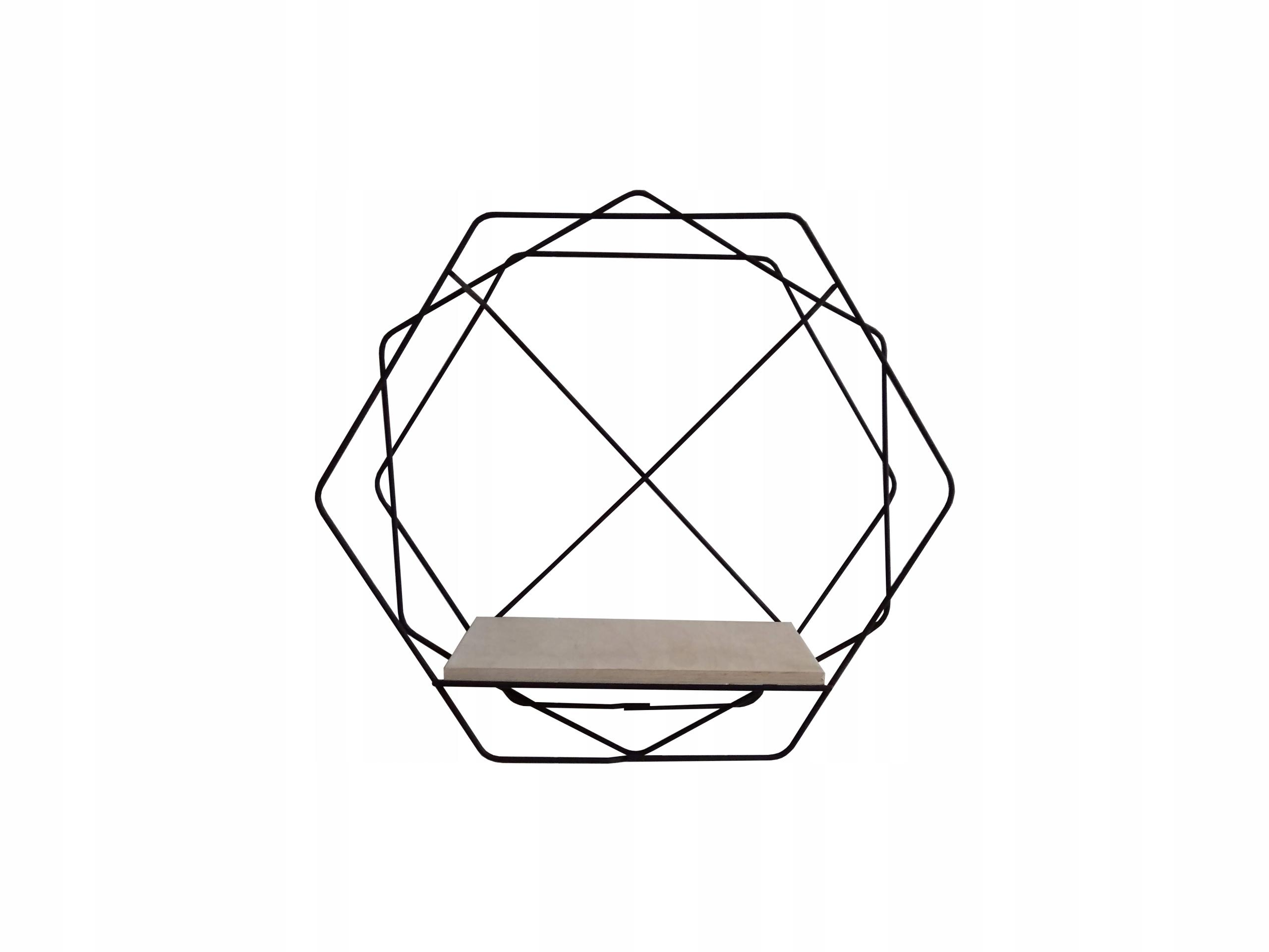 Półka Druciana Sześciokątna Hexagon Rozmiar S