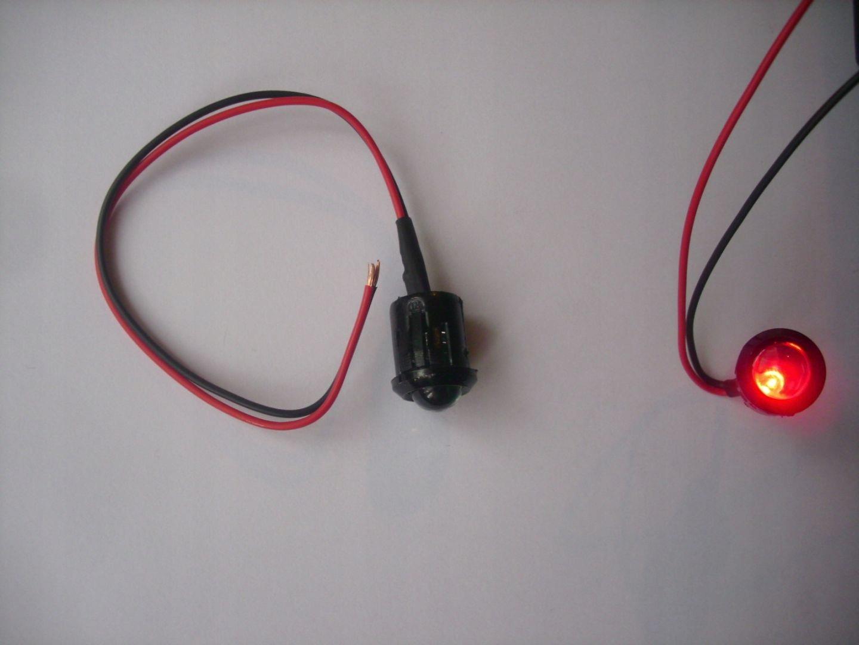 Светодиодный czerwona migajaca 10mm/14mm 12v 24v