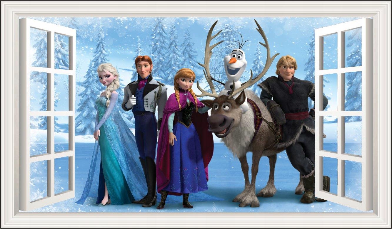 Nálepka Frozen Anna a Elsa Frozen 120x80