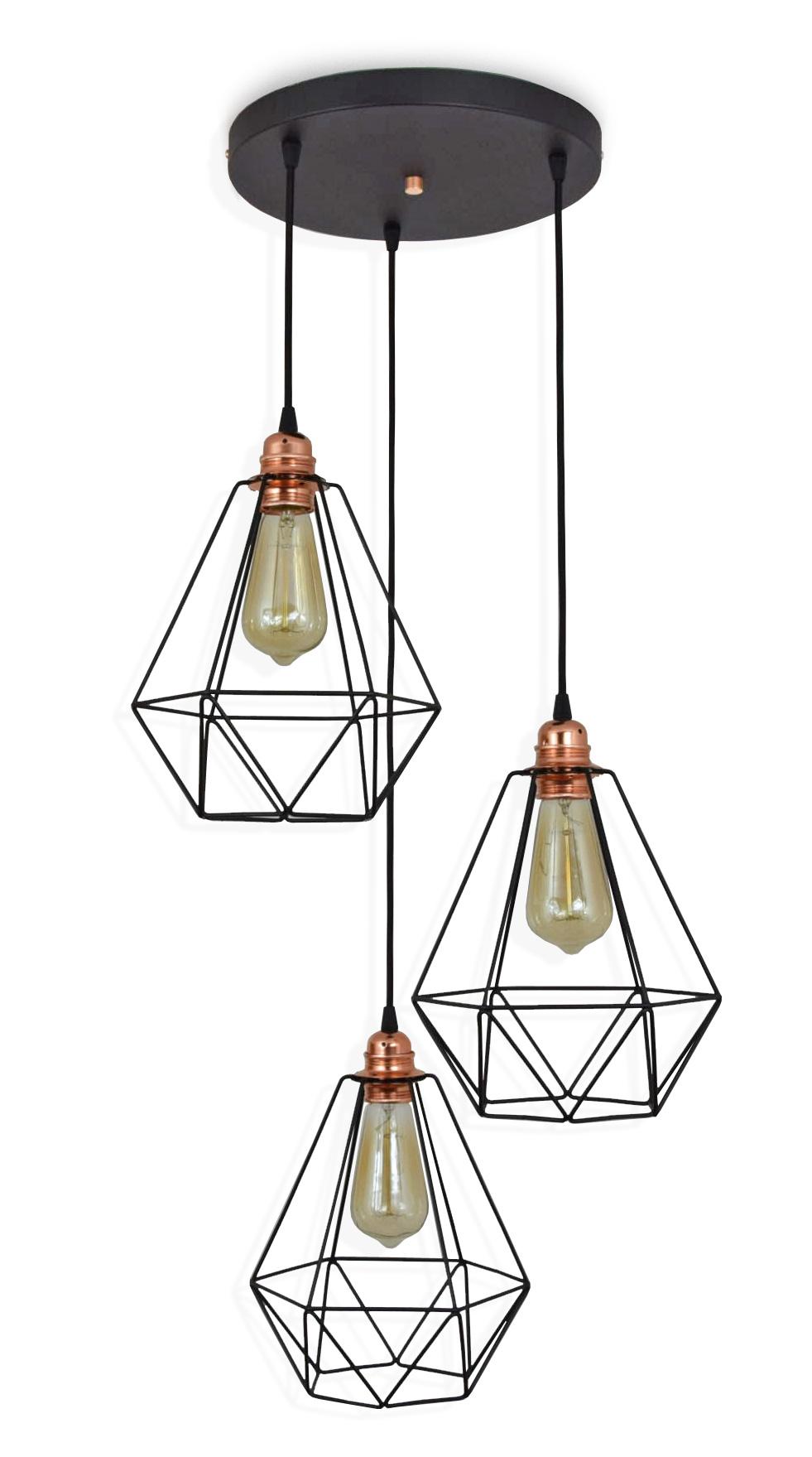 PRÍVESOK LAMPY, STROPNÉ LAMPY VINTAGE LOFT EDISON LED 712-3