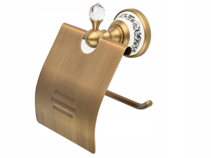 Starožitný držiak na toaletný papier RETRO zo starého zlata