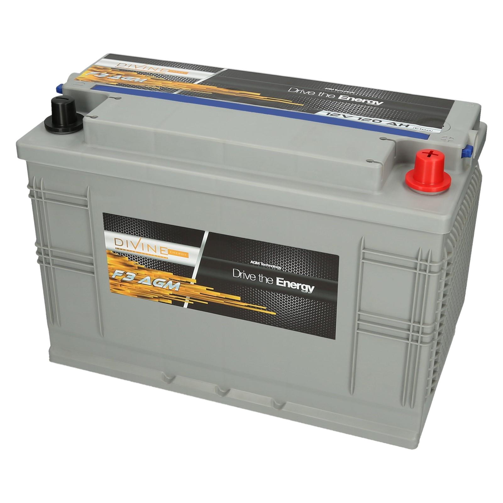 BOŽSKÁ F3 AGM batérie 120Ah HLBOKÉ CYKLU, Loď