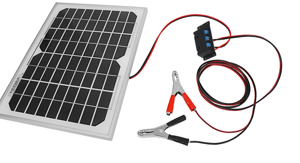Solárna batéria Solárny panel 20W 12V Regulátor