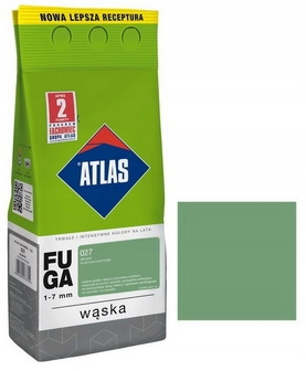ATLAS - FUGA WĄSKA 2kg - 027 ZIELONY - 1-7mm