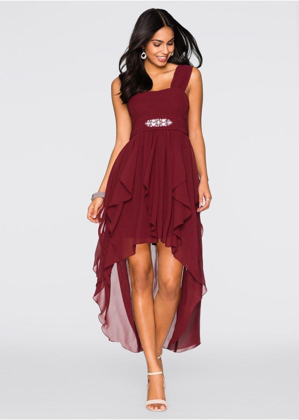 красное шифоновое платье с выкройками фото