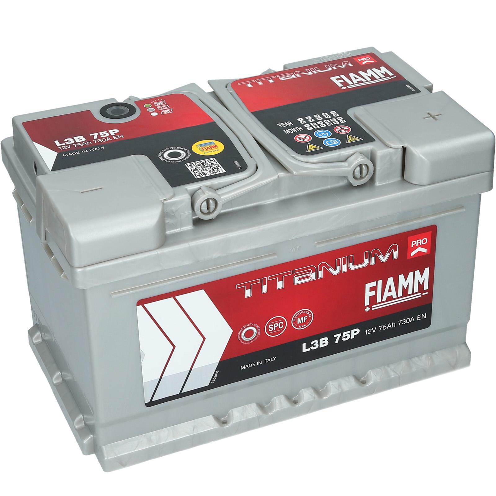 аккумулятор fiamm titanium pro l3b 75p 75ah 730a