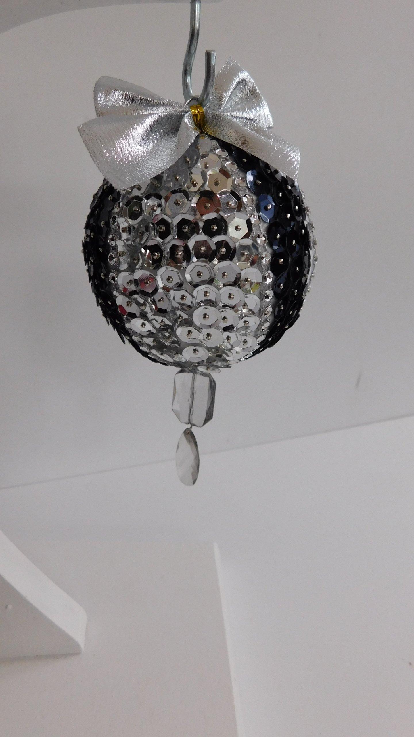 Bombki Srebrne Choinkowe Cyrkonie Krysztalki 16cm 7501189500 Allegro Pl