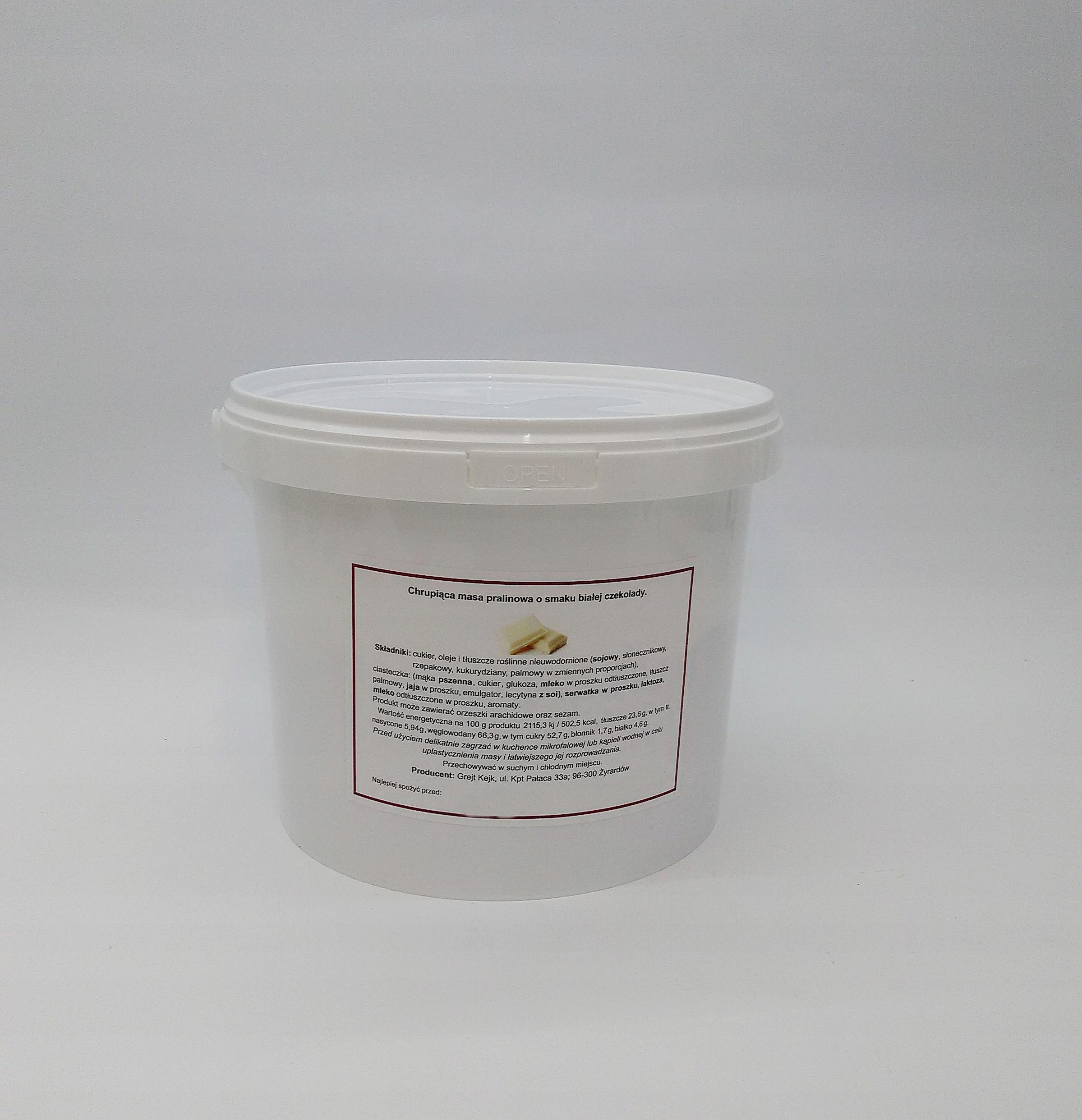 hmotnosť na tortu pralina 1,5 kg bielej čokolády