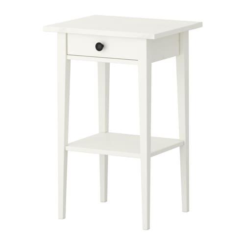 Ikea Hemnes Stolik Nocny Drewniany Biała Bejca