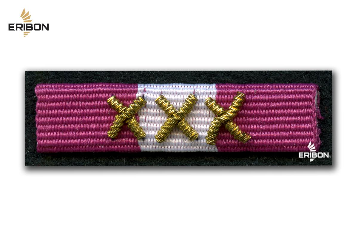 Медаль за многолетнюю службу золотой - орденская планка