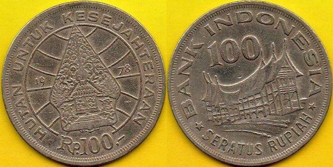 INDONEZJA 100 Rupiah 1978 r.