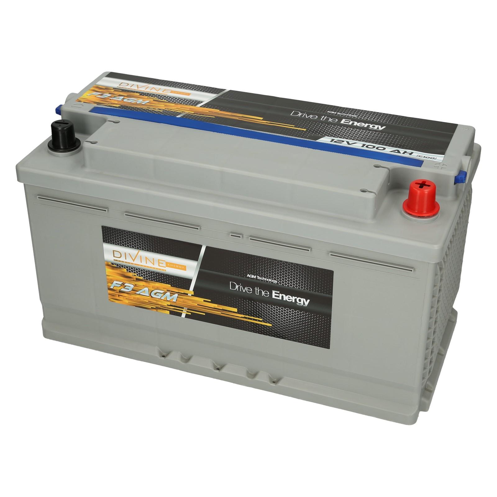 BOŽSKÁ F3 batérie, AGM, 100 Ah, jachty, lode