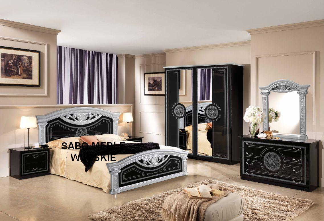 Купить итальянская спальня ROMA черно-серебряная SABO МЕБЕЛЬ на Otpravka - цены и фото - доставка из Польши и стран Европы в Украину.