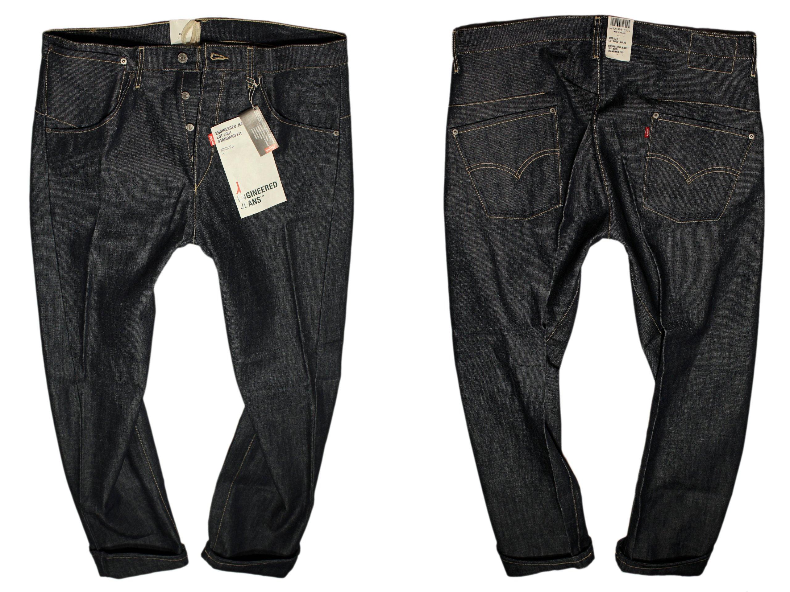 LEVI'S inžinierstva džínsy skrútené nohy W26 L30 LEVIS