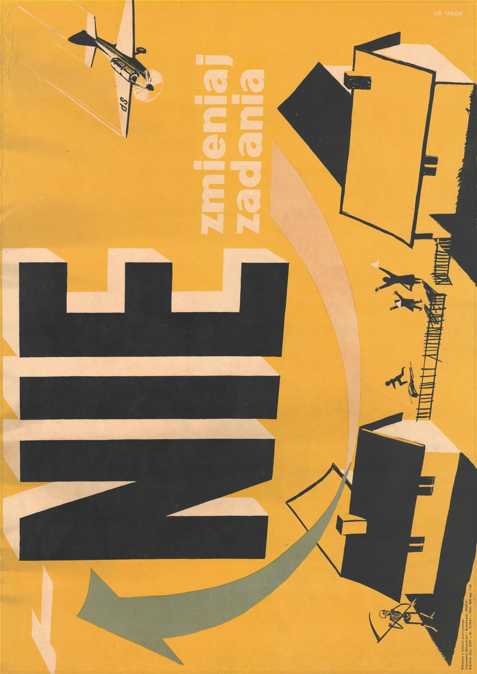 Plakat Lotniczy Lata 60 Xx W Komplet 5 Wzorów