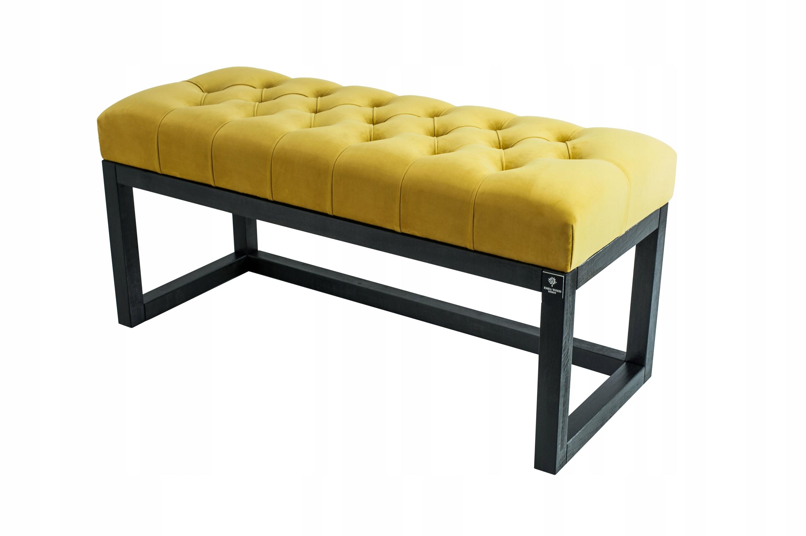 45 Výrobca Bench Prešívaný Citrónovo Žltá EMRA