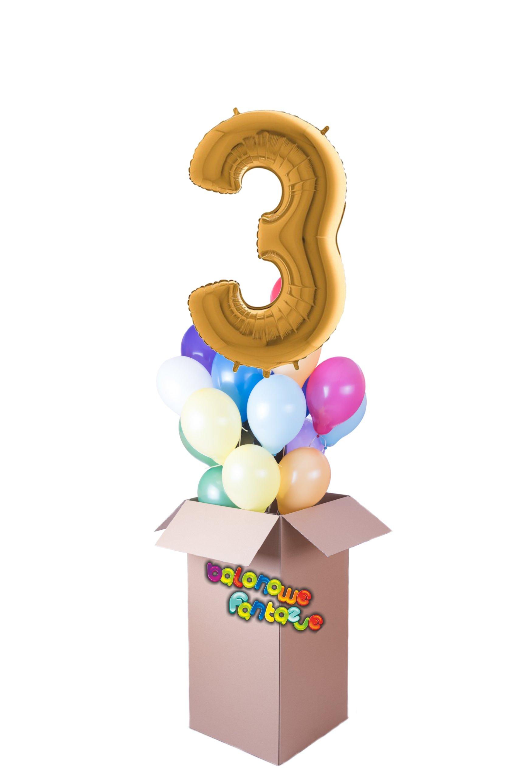 Воздушные шары установить цифру + разноцветные с гелиевым днем рождения
