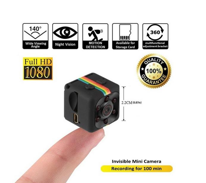 SQ11 mini Kamera FULL HD 1080p 12MPX Pohybu a na Noc