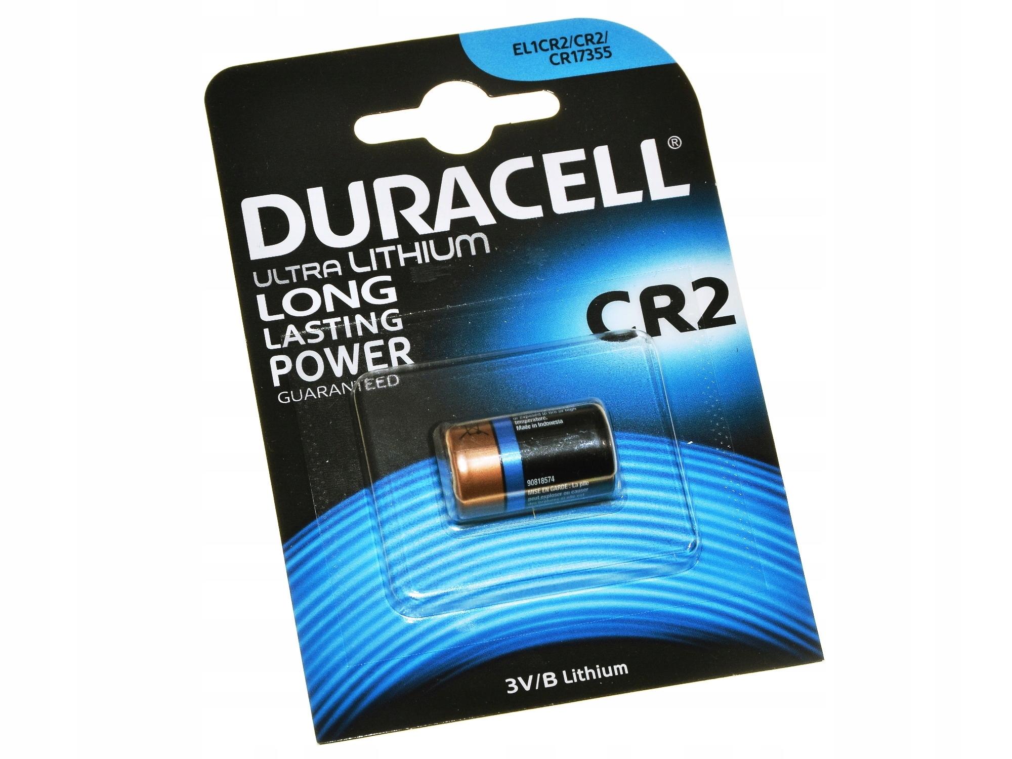 DuraCell CR2 DL2 3V Lítiová batéria pre fotoaparát fotoaparátu