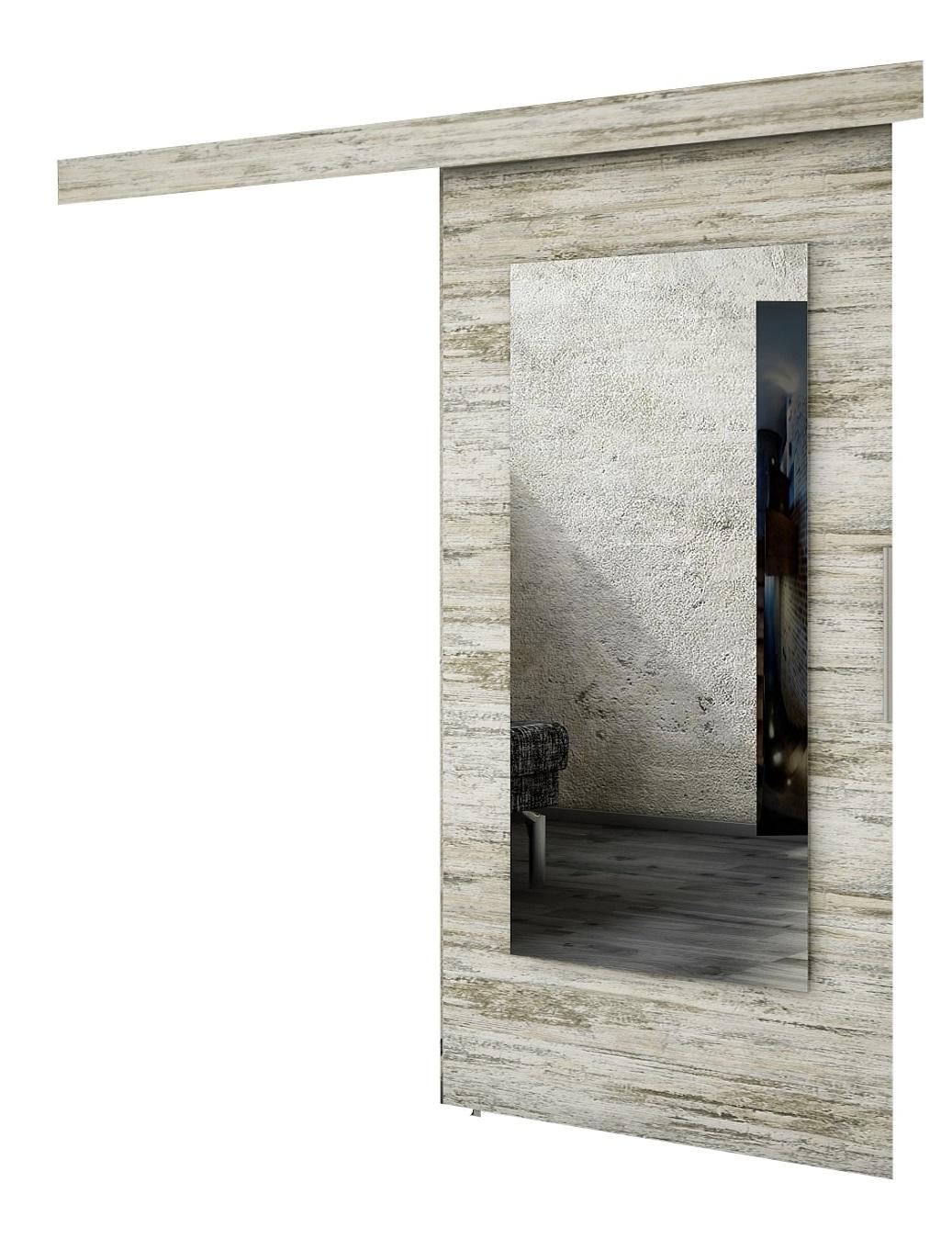 Drzwi przesuwne naścienne MULTI 100 Sosna B. wzory