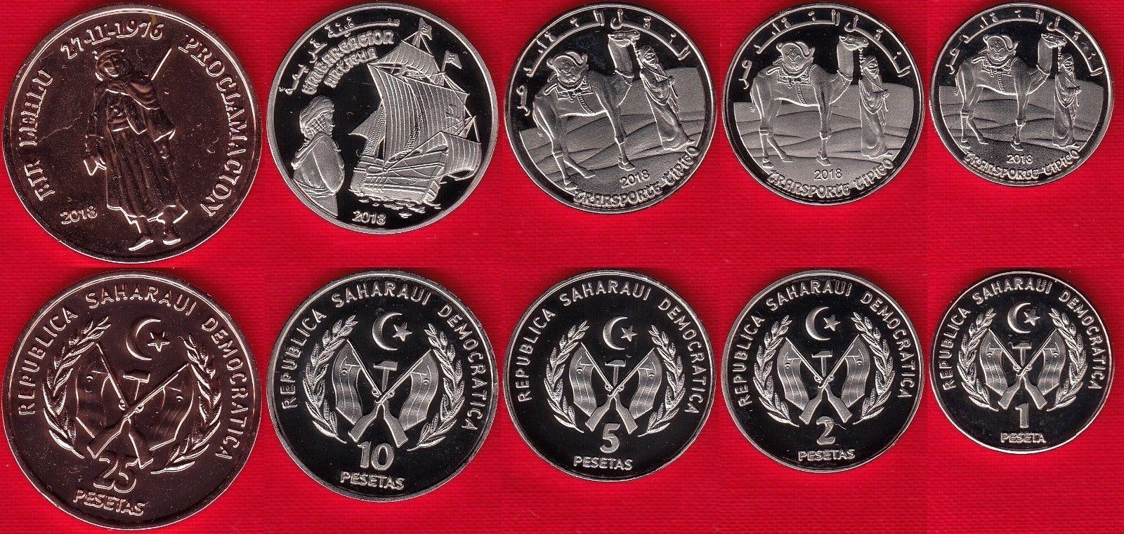 SAHARAWI SAHARA ZACHODNIA zestaw 5 monet 2018