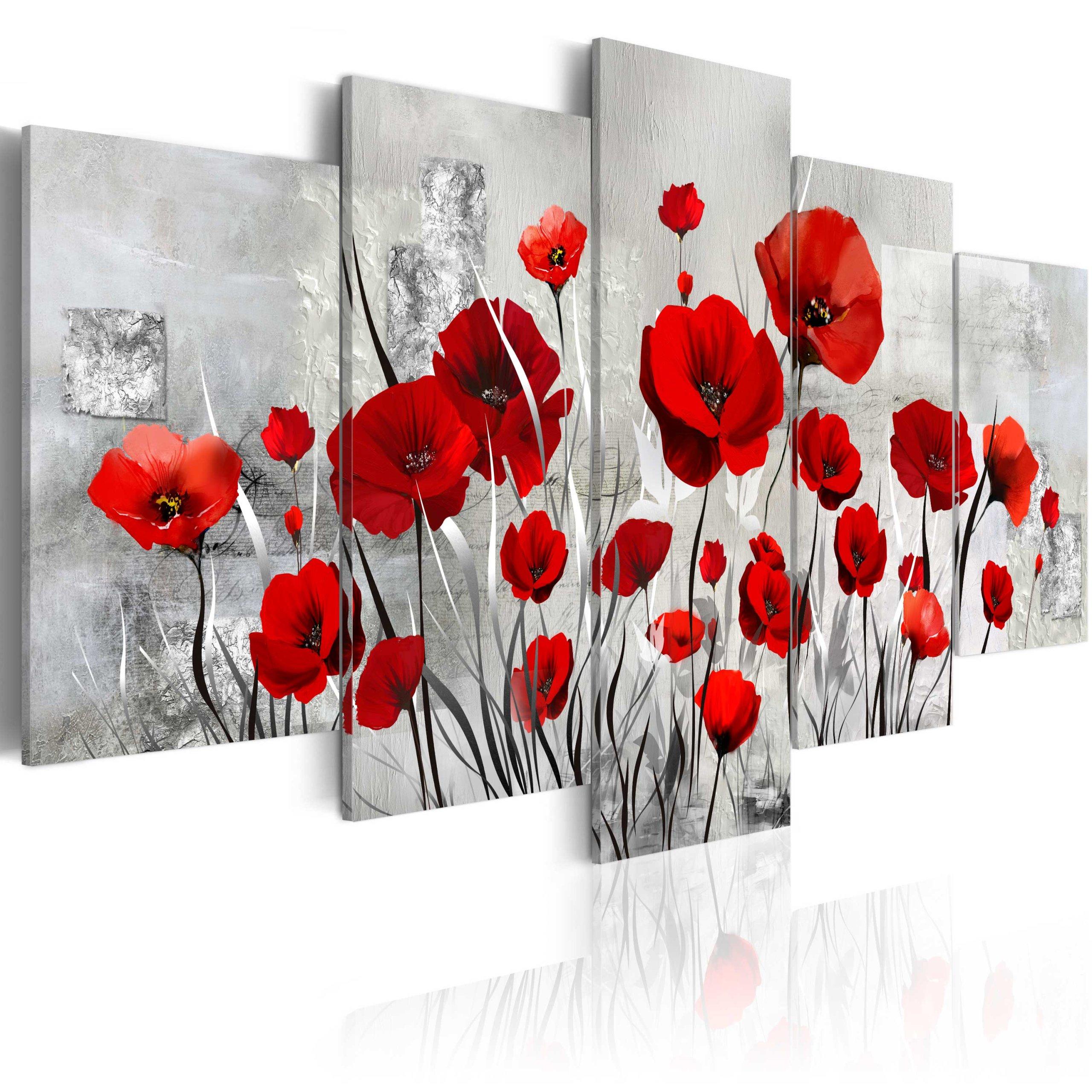 Obrázok 5 dielov 200x100 cm maki kvety B-A-0001-B-n
