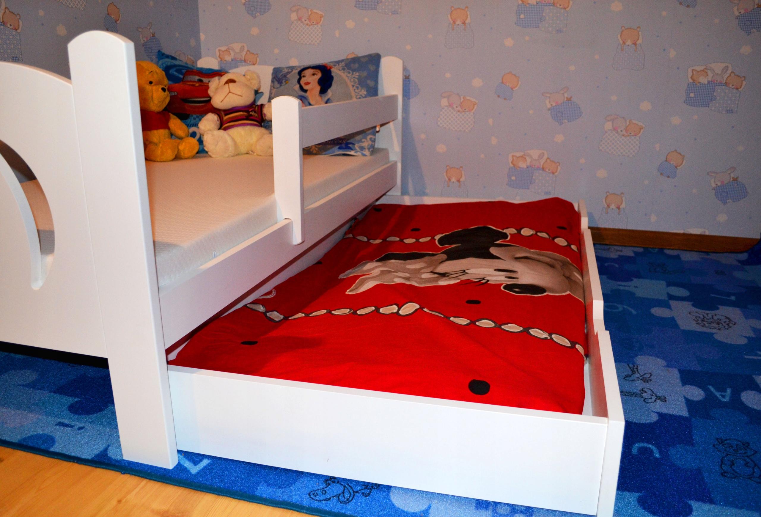 Śliczne łóżko dziecięce 160x80 białe Płeć Chłopcy Dziewczynki