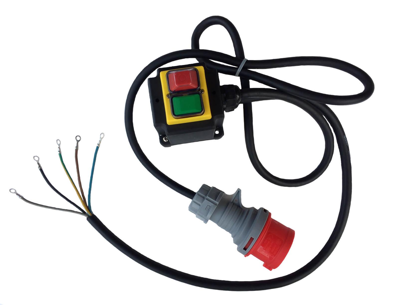 Prepínač motora 3 fázy. 400V prepínač