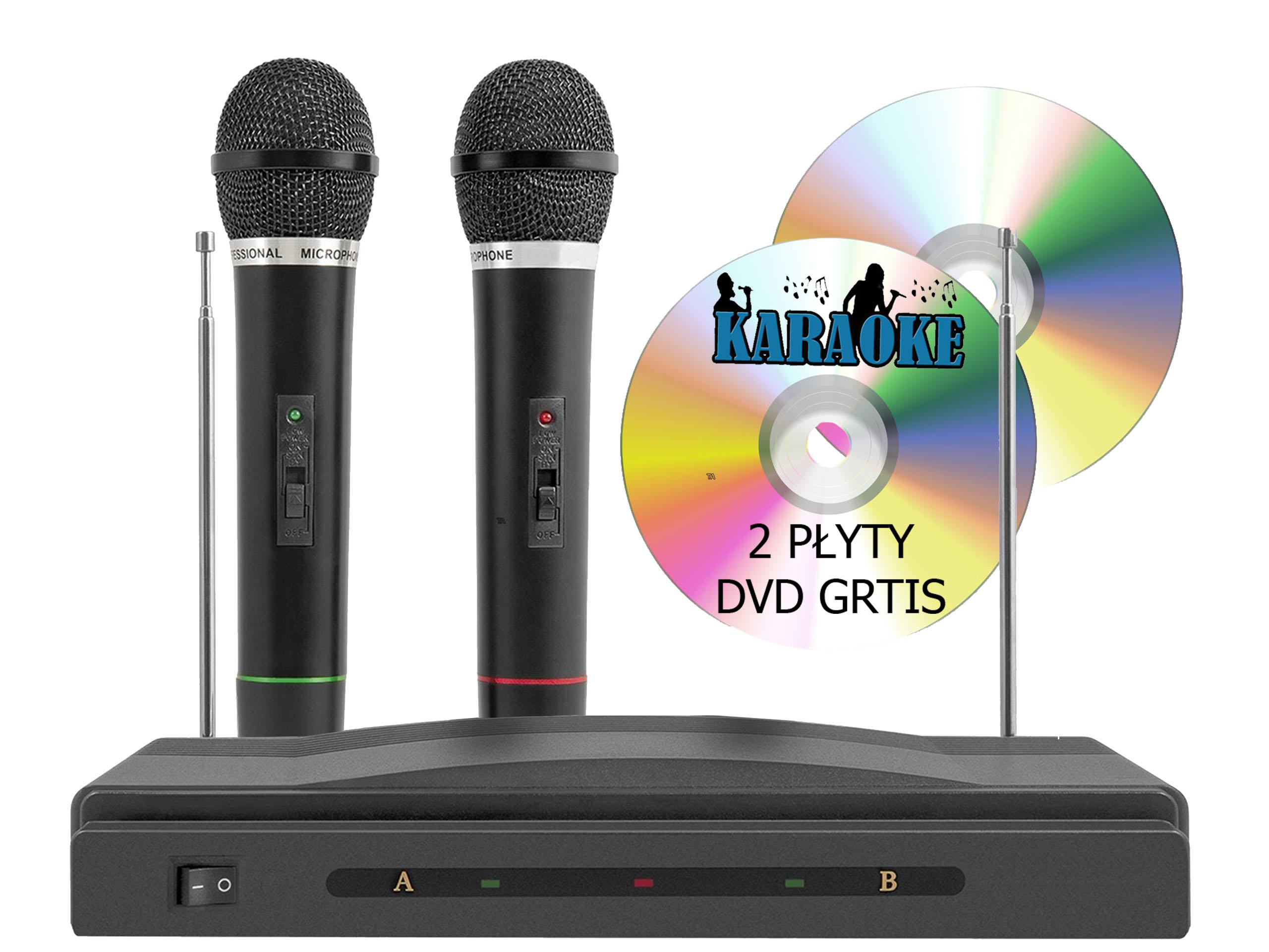 5V1 Karaoke Set = stanica + 2x mikrofón + 2x DVD