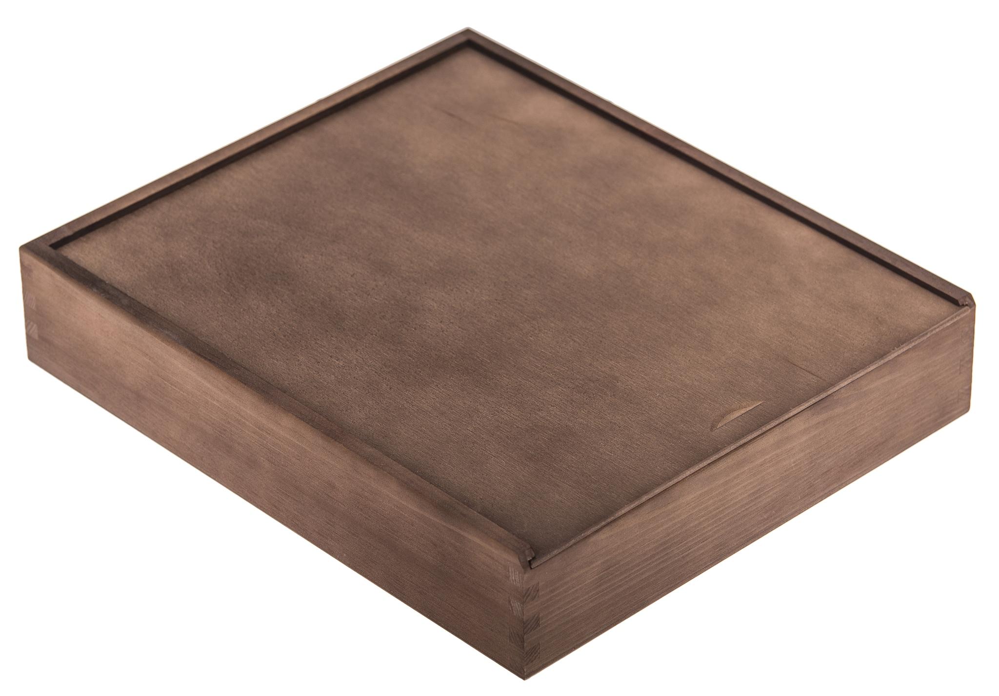 Pudełko na album i Pendrive 34x39cm Prezent brąz