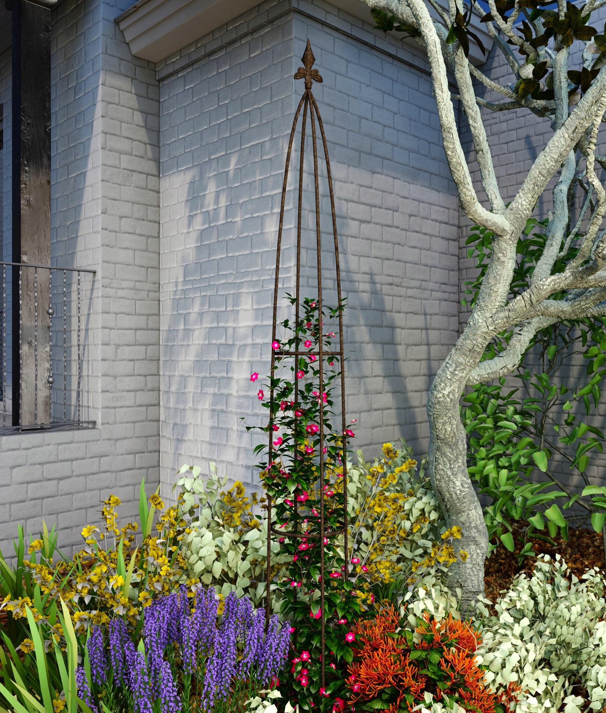 Nastaviť Pergola Záhrada Pyramídy Kvety 3 Ks