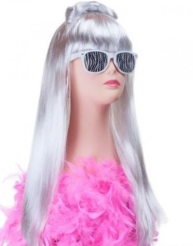 Wig Lady Gaga Kúpeľňa Karneval Party Birthday