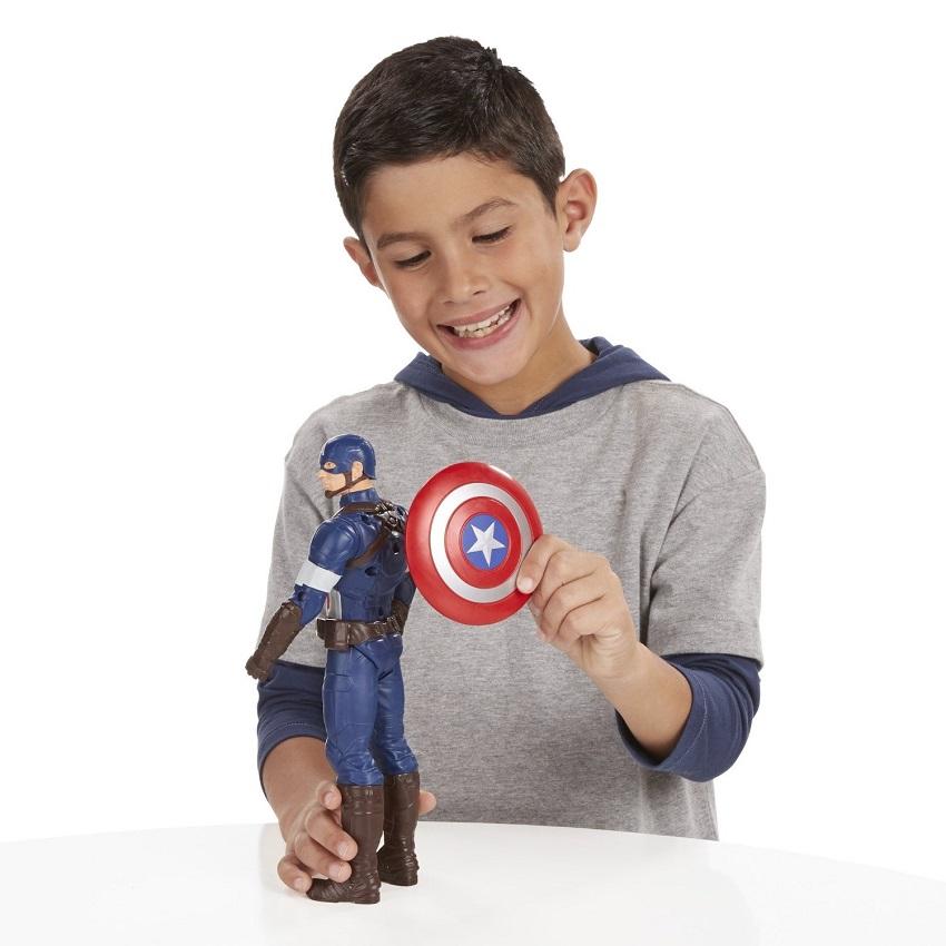 HASBRO KAPITAN AMERYKA RUCHOMA FIGURKA DŹWIĘK 30cm Bohater Avengers