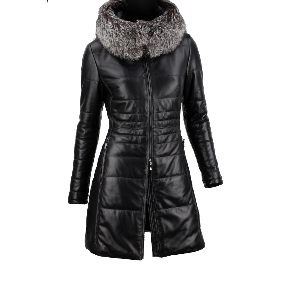 kurtka zimowa damska skora