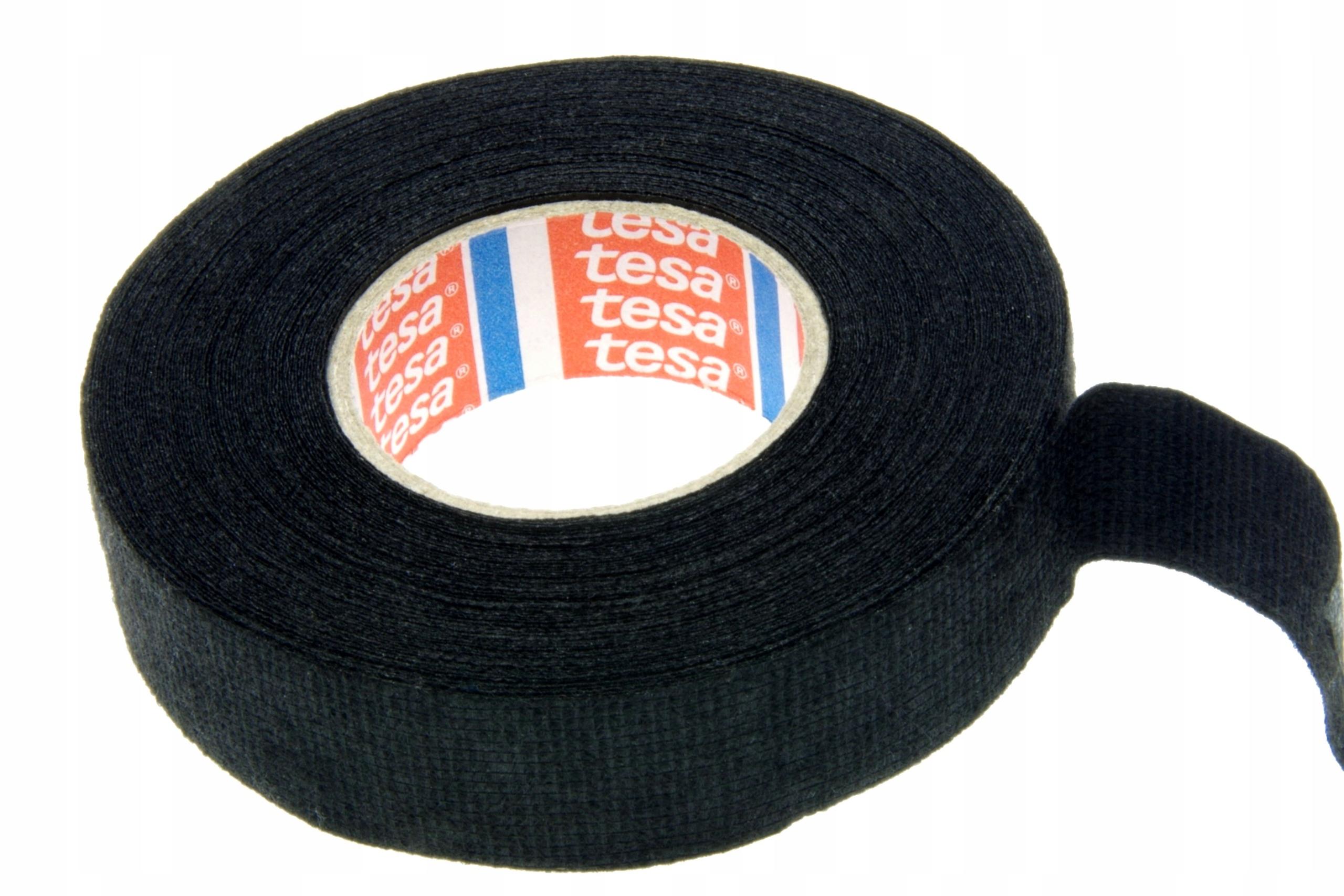 Лента изоляционная текстильная TESA черная 25м/19мм