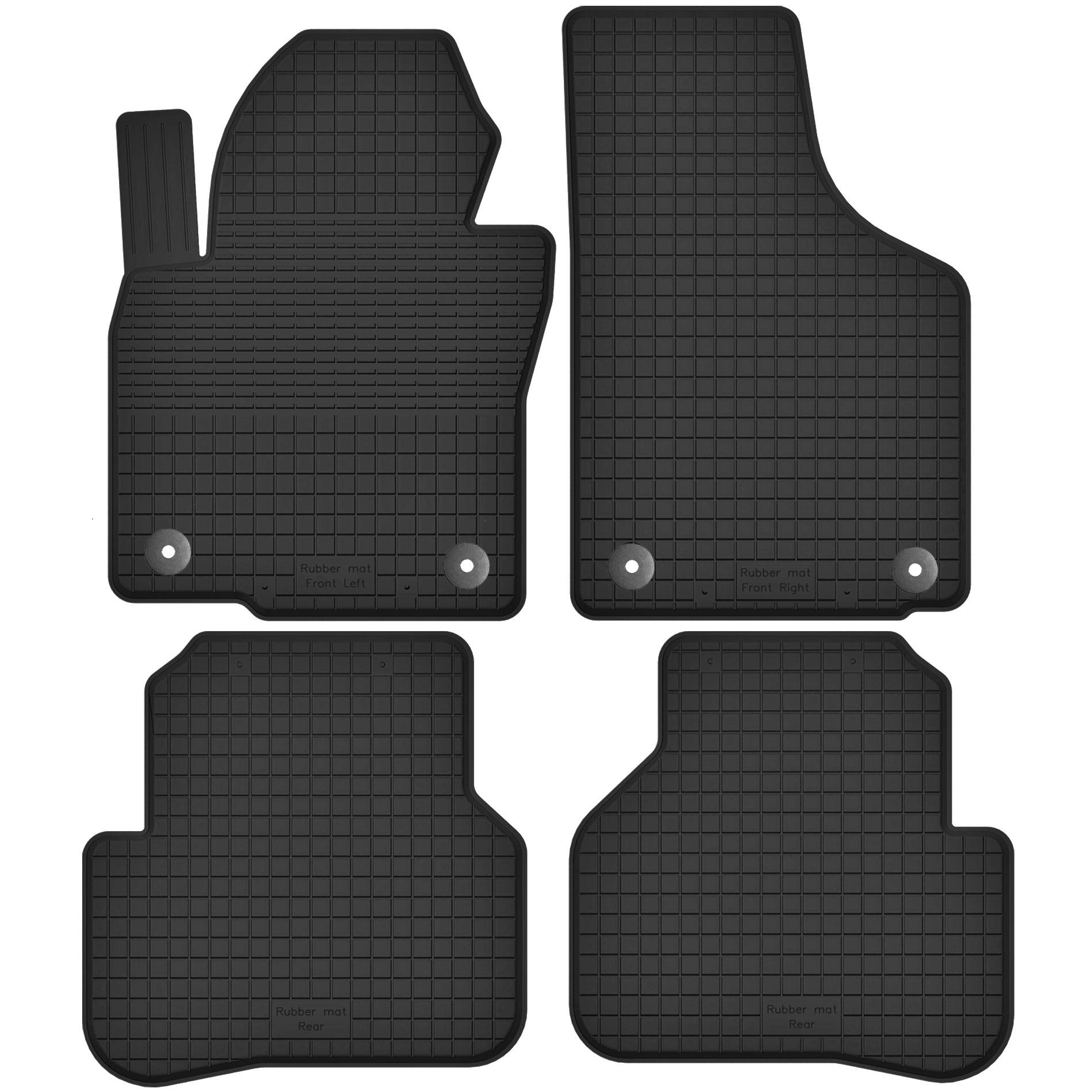 Резиновые коврики VW PASSAT B6 / B7 / CC + СТОП-ЧАСЫ