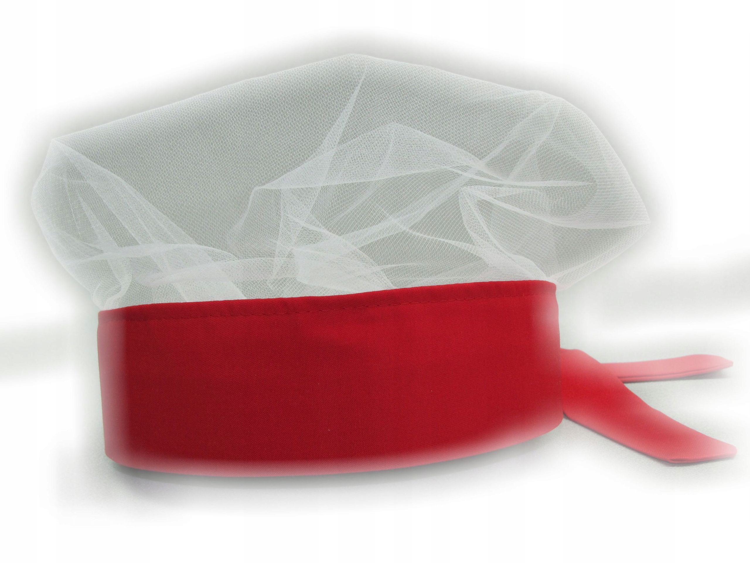Tulle Caps Red Tied - Cook Cook