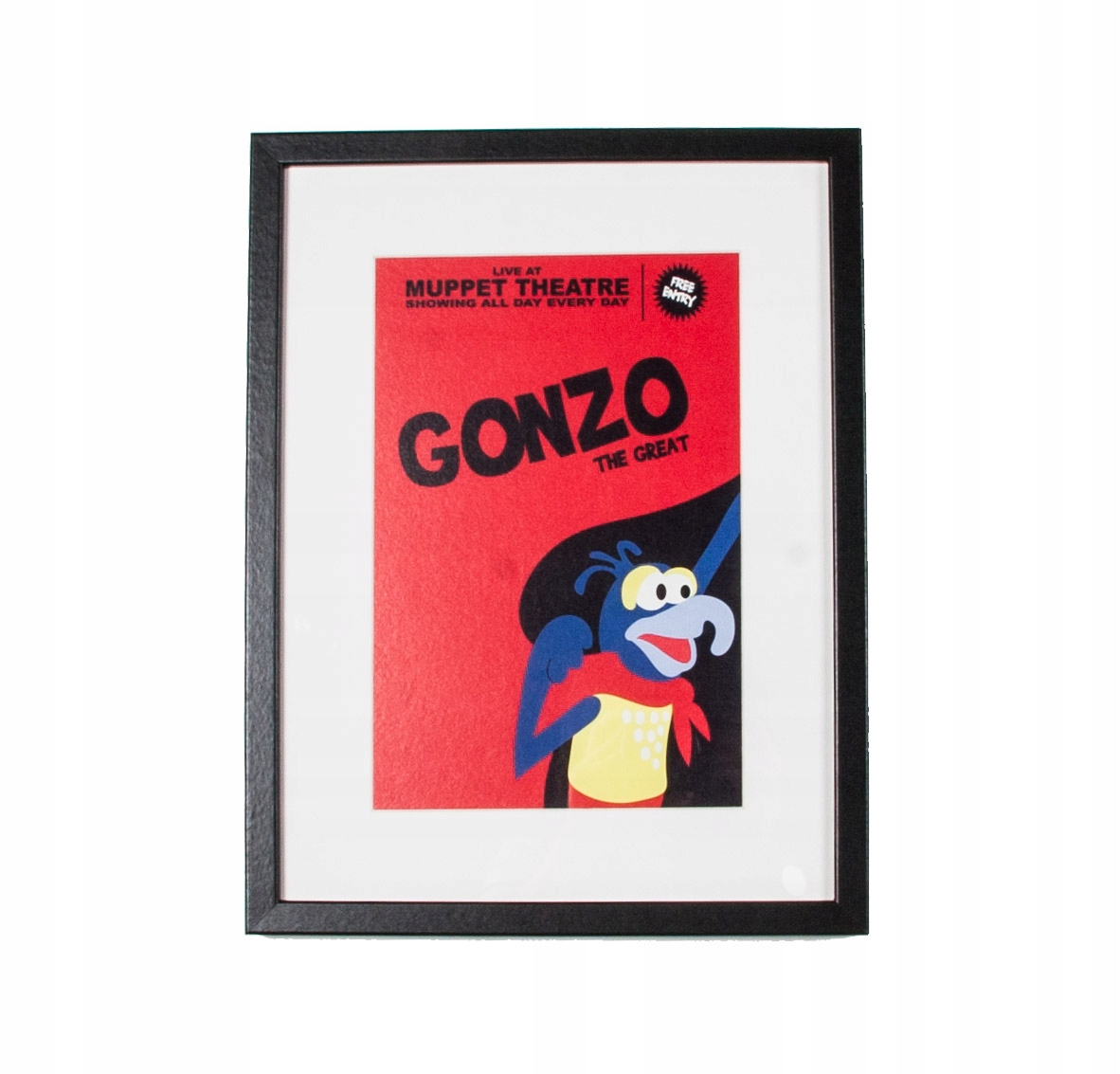 Disney gonzo muppet obrázok 34x44cm vintage 70-311