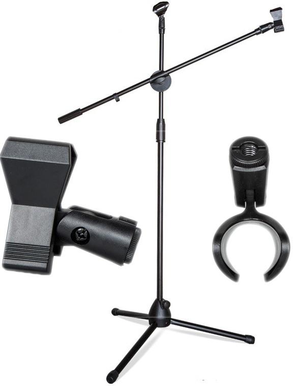 Podlahové statívy pre mikrofón 200cm + 2 rukoväte